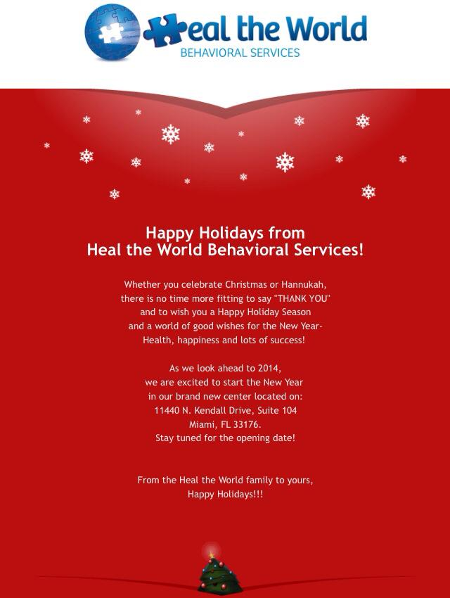 Happy Holidays from Heal the World
